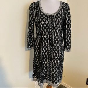 Moth Anthro Sweaterstiched Tunic Dress S Gray